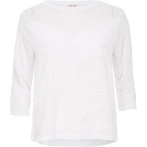 White woven insert top