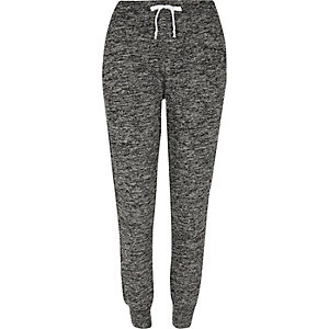 Grey marl jersey joggers