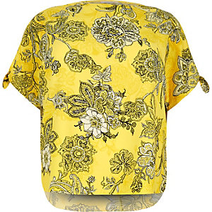 RI Plus yellow print top