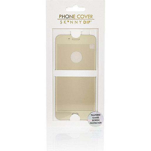 Protection d'écran dorée pour iPhone 6.