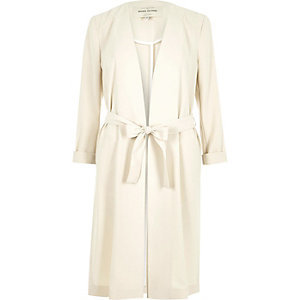 Cream duster jacket