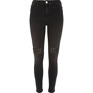 Black washed eyelet Molly jeggings