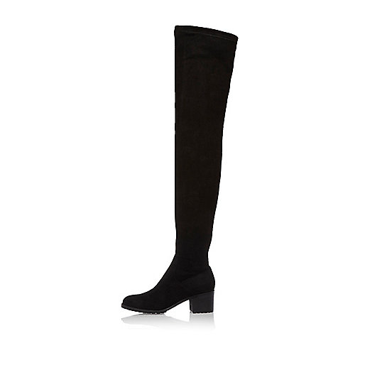 Black over-the-knee boots