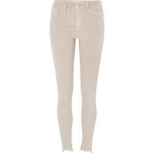 Jegging Molly délavage grège