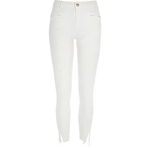 White distressed Molly jeggings
