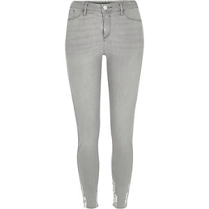 Jegging Molly gris aspect usé