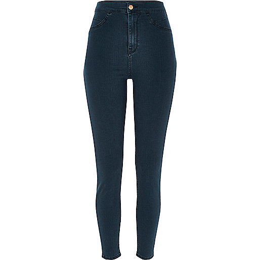 Jegging Molly bleu taille haute