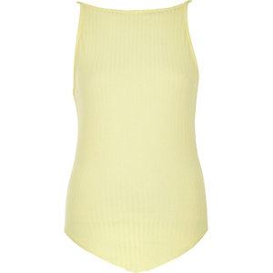 Yellow '90s cami bodysuit
