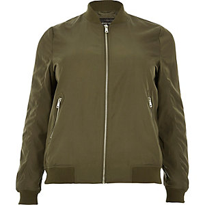 Plus khaki bomber jacket