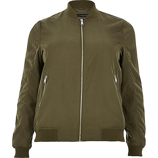 Plus khaki bomber jacket