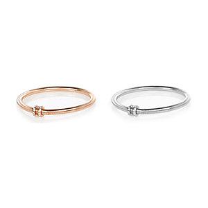 Rose gold tone diamanté bracelet pack