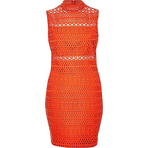 Mini-robe en dentelle cornelli rouge