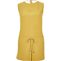 Yellow romper playsuit