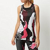 RI Active pink print gym vest