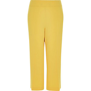RI Plus yellow cropped smart trousers