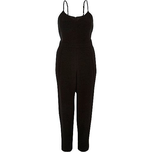 Black cami jumpsuit