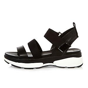 Black sneaker sandals