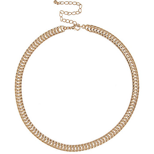 Gold tone premium chain necklace