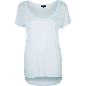 Light blue scoop neck t-shirt