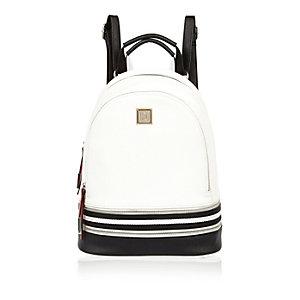 White zip backpack