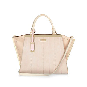 Nude winged tote bag