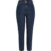 Dunkelblaue Mom-Jeans