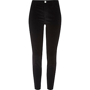 Molly – Schwarze Samt-Jeggings