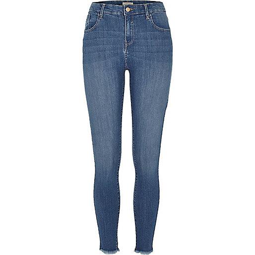 Jean super skinny Amelie bleu clair délavé