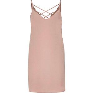 Light pink strappy cami dress