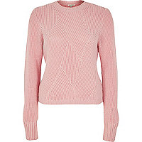 Pink stitch sweater