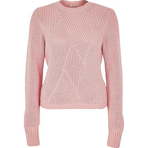Pink stitch sweater
