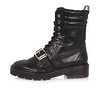 Black engineer boots