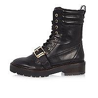 Black engineer boots