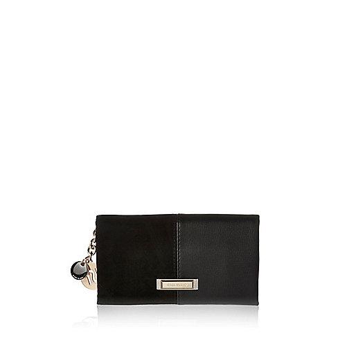 Porte-monnaie avec empiècement noir à rabat