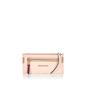 Pink zip purse