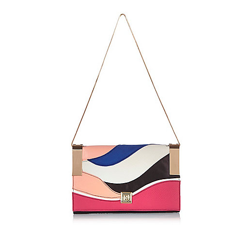 Pink cutabout clutch bag