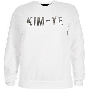 RI Plus white slogan sweatshirt