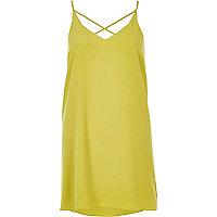 Dark yellow strappy slip dress
