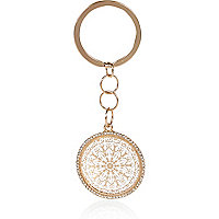 Gold tone filigree keyring