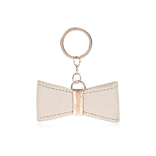 Porte-clés avec nœud blanc