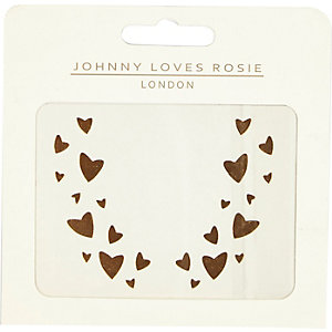 Johnny Loves Rosie heart face tattoo