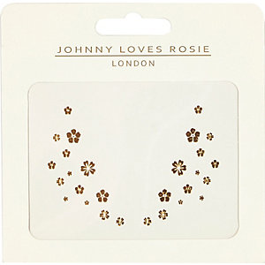 Johnny Loves Rosie flower face tattoo