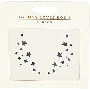 Johnny Loves Rosie star face tattoo