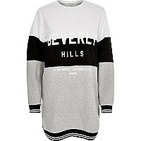 Black print oversized sweatshirt