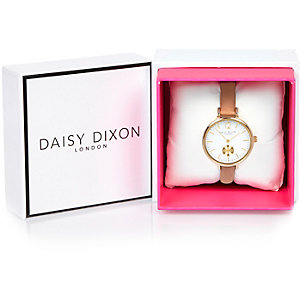 Daisy Dixon gold tone faceted dial watch