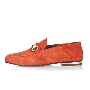 Orange fold down loafers
