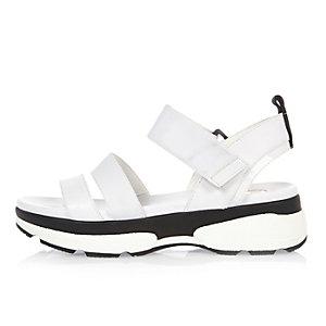 White sneaker sandals