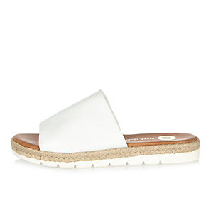 White pool sliders