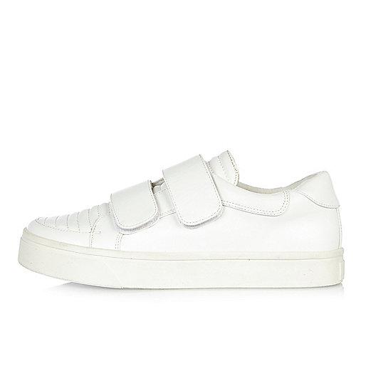 White double strap plimsolls