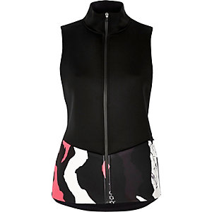 RI Active black print sports vest